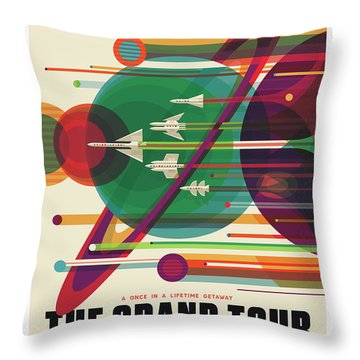 Nasa The Grand Tour Poster Art Visions Of The Future Throw Pillow