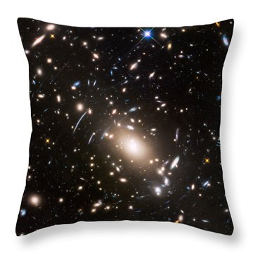 Throw Pillow featuring the photograph Nasa's Hubble Looks To The Final Frontier by Nasa