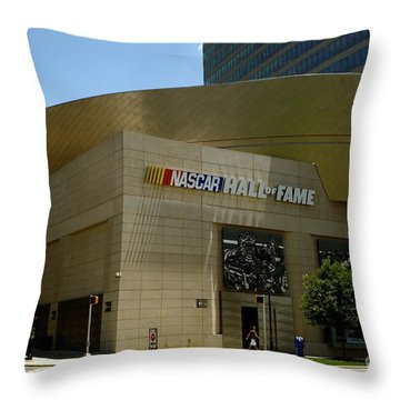 Nascar Hall Of Fame Throw Pillow