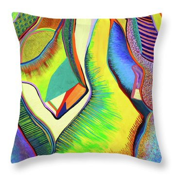 Nascent Bud Throw Pillow