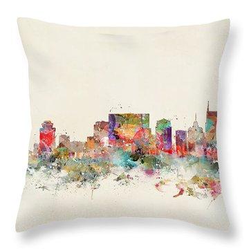 Nashville City Skyline Throw Pillow