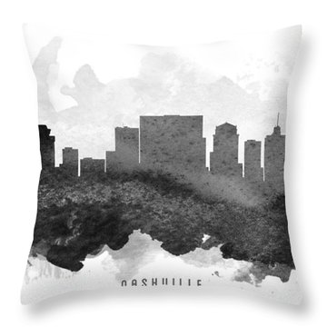 Nashville Cityscape 11 Throw Pillow by Aged Pixel