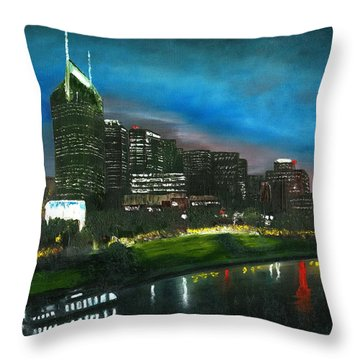 Nashville Nights Throw Pillow