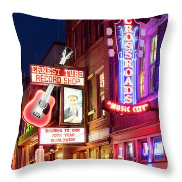 Throw Pillow featuring the photograph Nashville Signs by Brian Jannsen