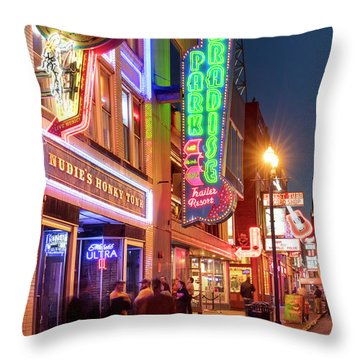 Throw Pillow featuring the photograph Nashville Signs II by Brian Jannsen