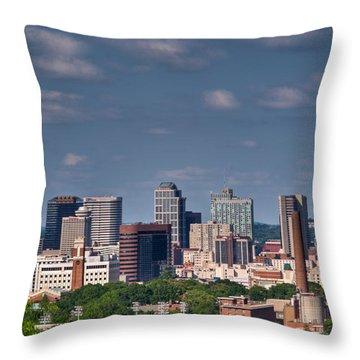 Nashville Skyline 1 Throw Pillow by Douglas Barnett