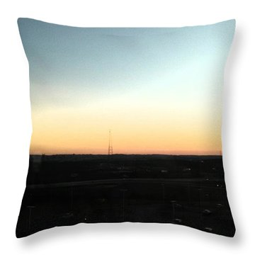 Nashville Skyline At Sunset Throw Pillow