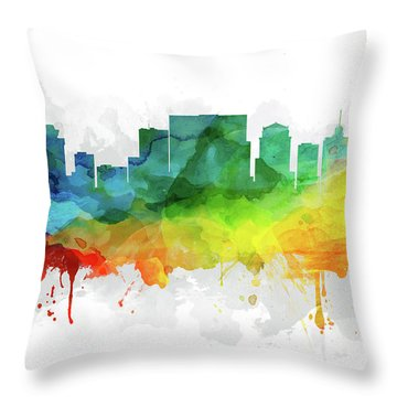 Nashville Skyline Mmr-ustnna05 Throw Pillow by Aged Pixel