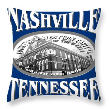 Nashville Tennessee Design Throw Pillow