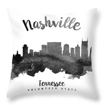 Nashville Tennessee Skyline 18 Throw Pillow by Aged Pixel