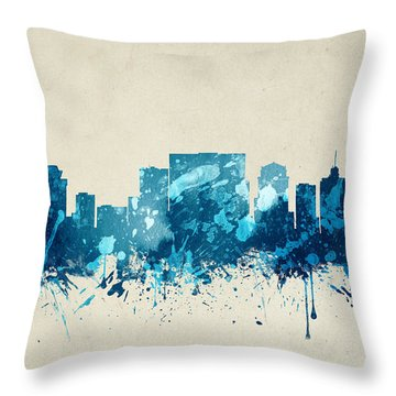 Nashville Tennessee Skyline 20 Throw Pillow by Aged Pixel