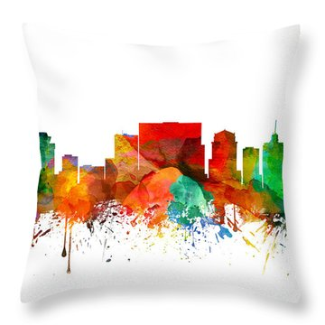 Nashville Tennessee Skyline 21 Throw Pillow by Aged Pixel