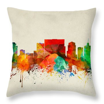 Nashville Tennessee Skyline 22 Throw Pillow by Aged Pixel