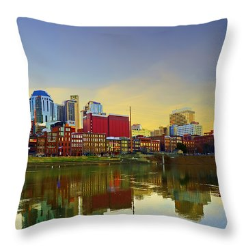 Nashville Tennessee Throw Pillow by Steven  Michael