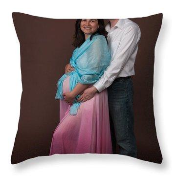 Nasiba And Clinton Throw Pillow