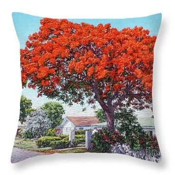 Nassau East Blvd.  Throw Pillow