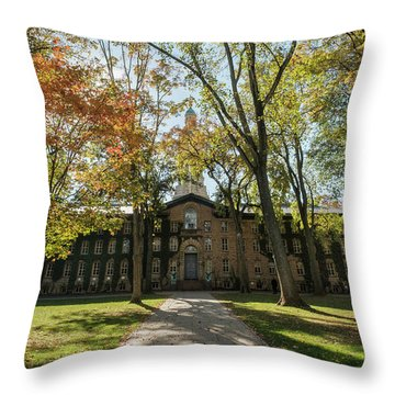 Nassau Hall Princeton University Throw Pillow
