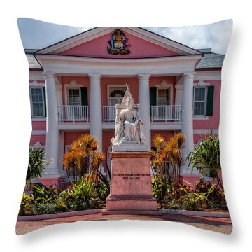 Nassau Senate Building Throw Pillow by Christopher Holmes