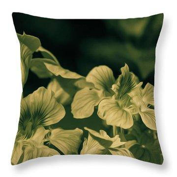 Nasturtium Black And White Throw Pillow