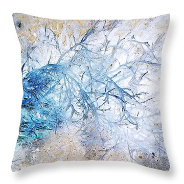 Oppostracts 10 - Seaweed Throw Pillow