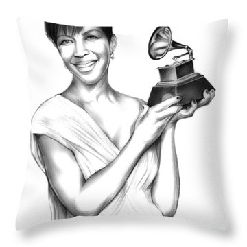 Natalie Cole Throw Pillow