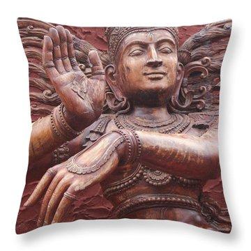Nataraj, Fort Kochi Throw Pillow by Jennifer Mazzucco