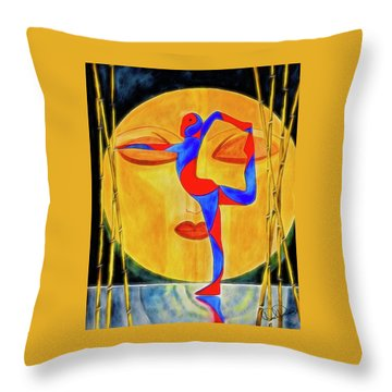 Nataraja Asana Throw Pillow