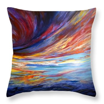 Natchez Sky Throw Pillow by Jan VonBokel