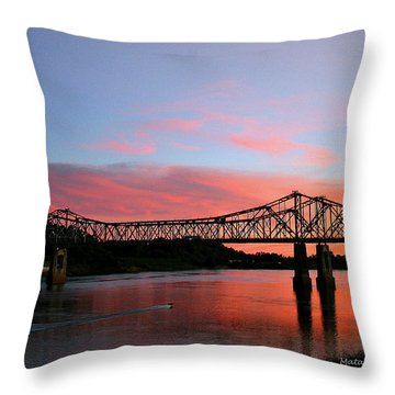Natchez Sunset Throw Pillow