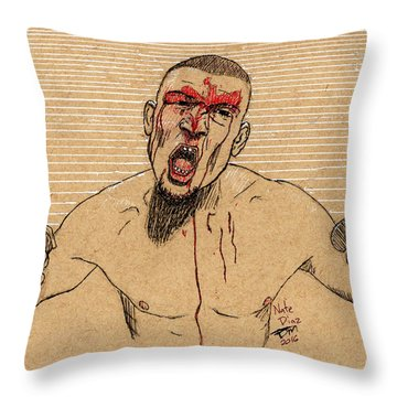 Nate Diaz Throw Pillow