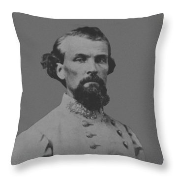 Nathan Bedford Forrest Throw Pillow by War Is Hell Store