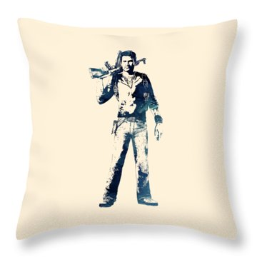Nathan Drake Throw Pillow
