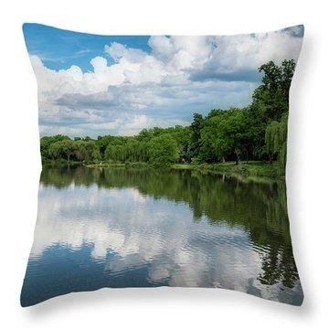 Nathanael Greene Park Throw Pillow
