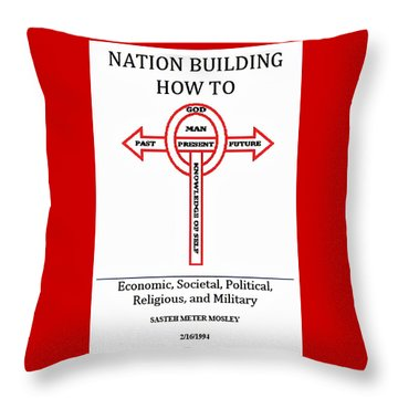 Nation Building How To Book Throw Pillow