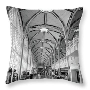 National Airport D C A Throw Pillow