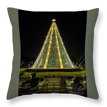 Throw Pillow featuring the photograph National Christmas Tree #2 by Sandy Molinaro