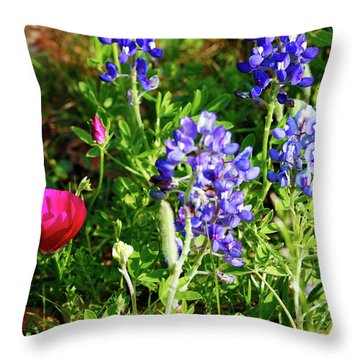 Throw Pillow featuring the photograph National Colors by Charles McKelroy
