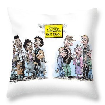 National Conversation About Race Throw Pillow