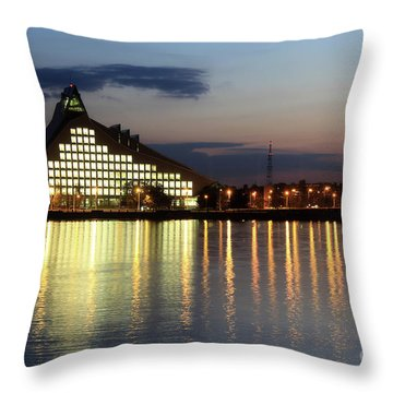 National Library Of Latvia Throw Pillow