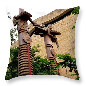 National Museum Of The American Indian 3 Throw Pillow by Randall Weidner