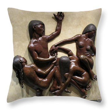 National Museum Of The American Indian 6 Throw Pillow by Randall Weidner