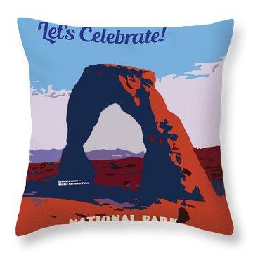 Throw Pillow featuring the digital art 100 Years, National Park Service Centennial by Chuck Mountain