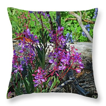Throw Pillow featuring the photograph National Parks. From The Ashes To New Life. by Ausra Huntington nee Paulauskaite