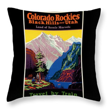 National Parks Posters Throw Pillow
