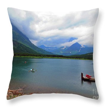 National Parks. Serenity Of Mcdonald Throw Pillow