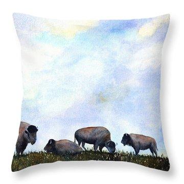 National Treasure - Bison Throw Pillow