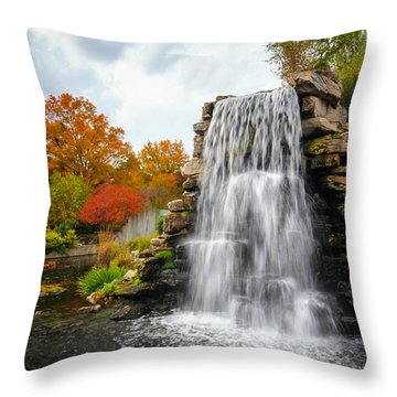 National Zoo Waterfall Throw Pillow