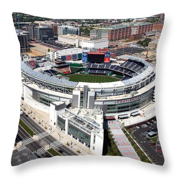 Nationals Park Throw Pillow by Carol Highsmith