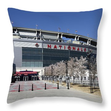 Nationals Park In Washington D.c. Throw Pillow by Brendan Reals