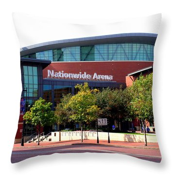 Nationwide Arena Throw Pillow by Laurel Talabere